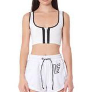 TRACKER ZIP FRONT SLEEVELESS TEE WITH LF TAPE
